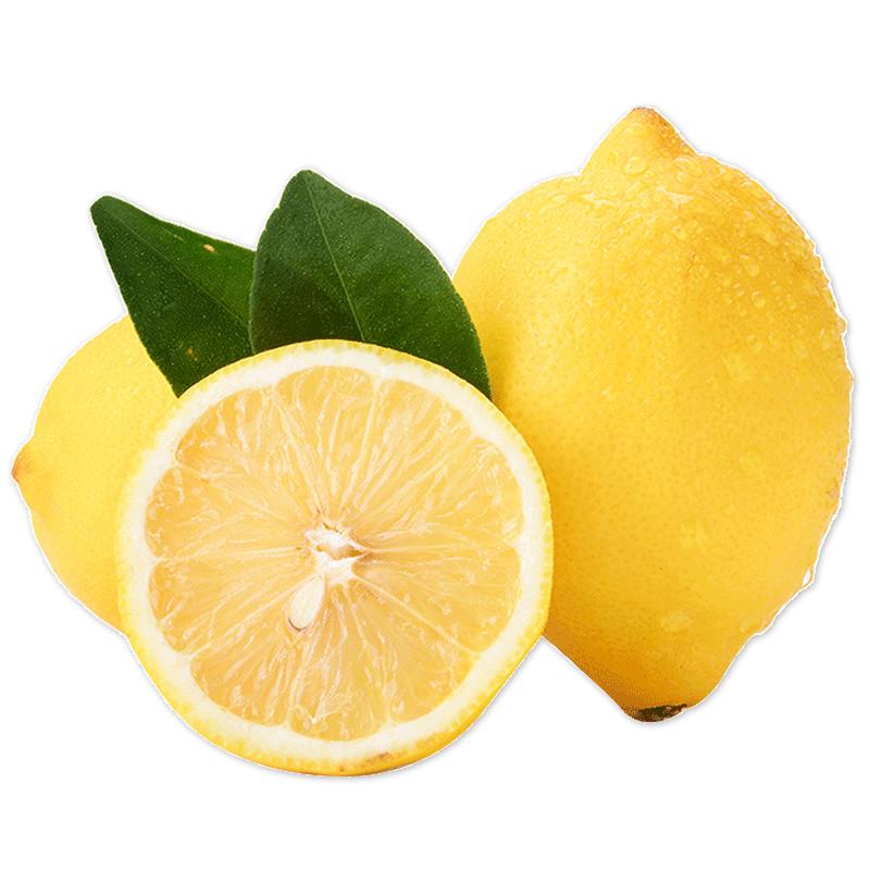 正宗安岳黄柠檬新鲜精选一级小果10个批发包邮多汁果皮薄清香