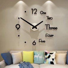 Punch-free diy clock wall clock living room home fashion clock modern minimalist decoration personality creative Nordic