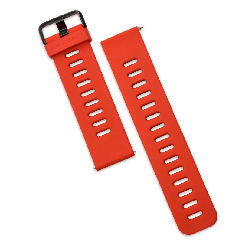 Amazfit Watch red silicone sports wristband watch accessories 22mm width Huami strap GTR 47mm available
