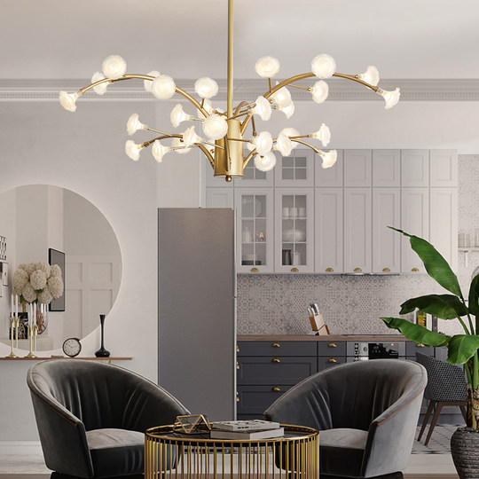 Nordic light luxury creative branch chandelier warm modern living room bedroom dining room lamp clothing bar table chandelier