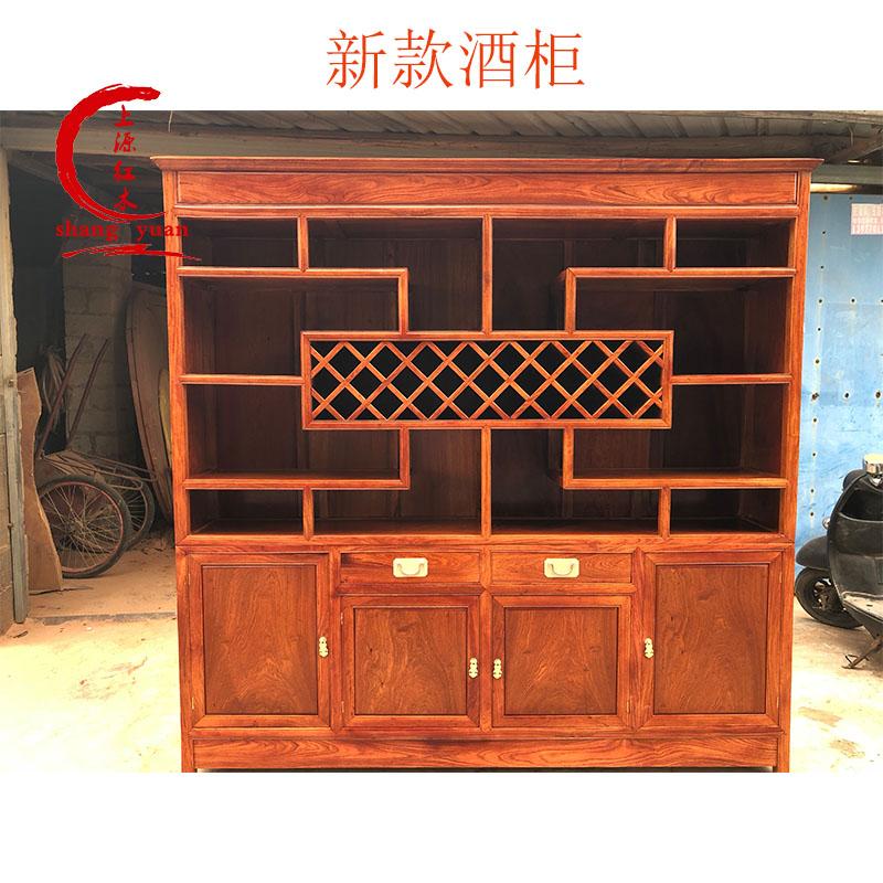 Dongxing красный Деревянная мебель Бирманский винный шкаф из палисандра