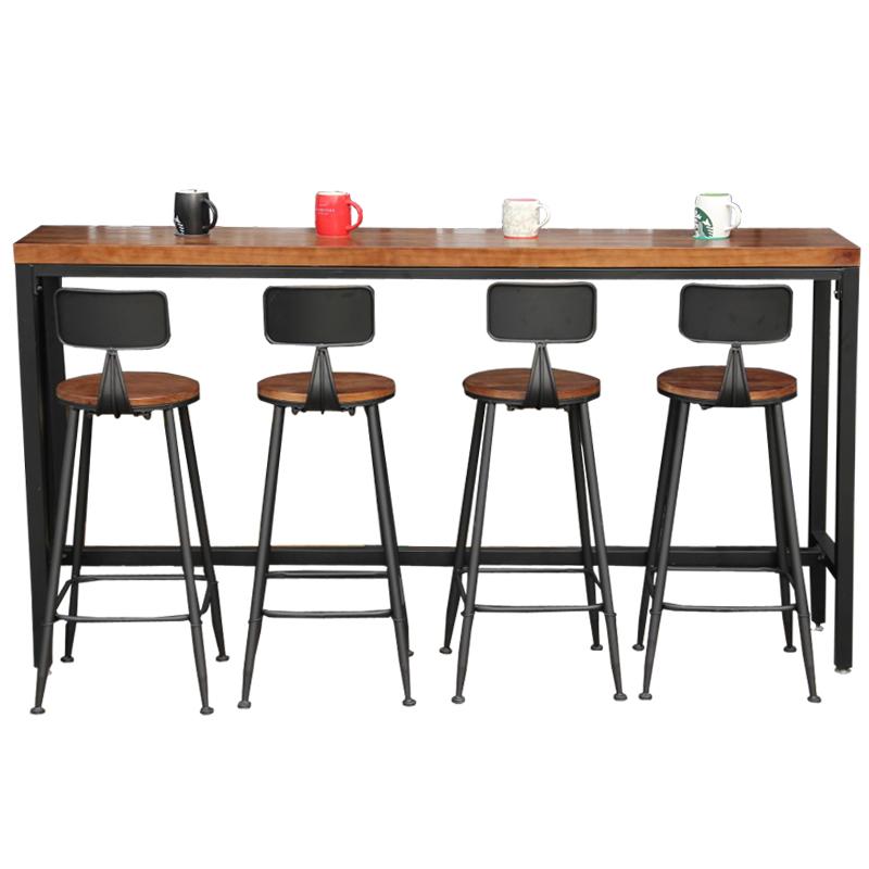 europ ens et am ricains r tro bar bois massif table et chaises ancienne chaise haute bar. Black Bedroom Furniture Sets. Home Design Ideas