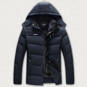 富贵鸟2020冬季羽绒棉服男中老年棉衣男加绒加厚短款爸爸冬装外套