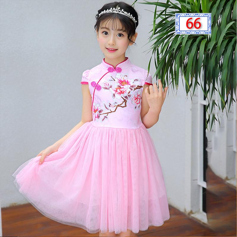 4儿童装5小女孩子旗袍6公主裙子8女童9礼服7连衣裙夏装10夏天12岁