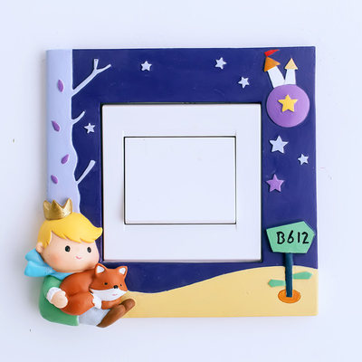 Creative European style little prince switch stickers cartoon animation cute children's room bedroom socket protective cover wall stickers decoration