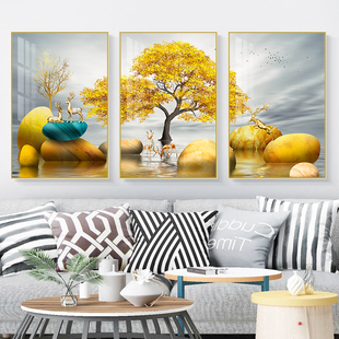 Living room decoration painting modern simple sofa background wall