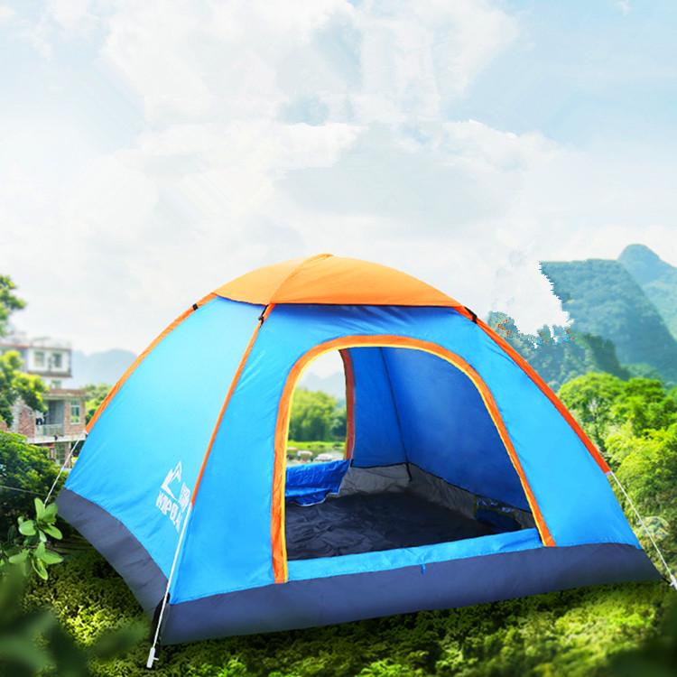 帐篷户外3-4人全自动二室一厅家庭加厚防雨野外野营露营2人双人