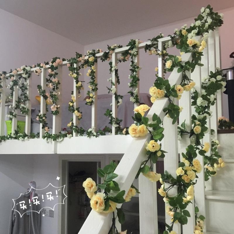 Mô phỏng hoa hồng nho nhựa hoa giả mây trong nhà điều hòa không khí ban công sưởi ấm ống trang trí tường treo hoa dải - Hoa nhân tạo / Cây / Trái cây