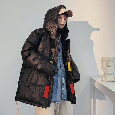 2019新款连帽羽绒服男中长款冬季外套男潮牌韩版潮流冬装上衣
