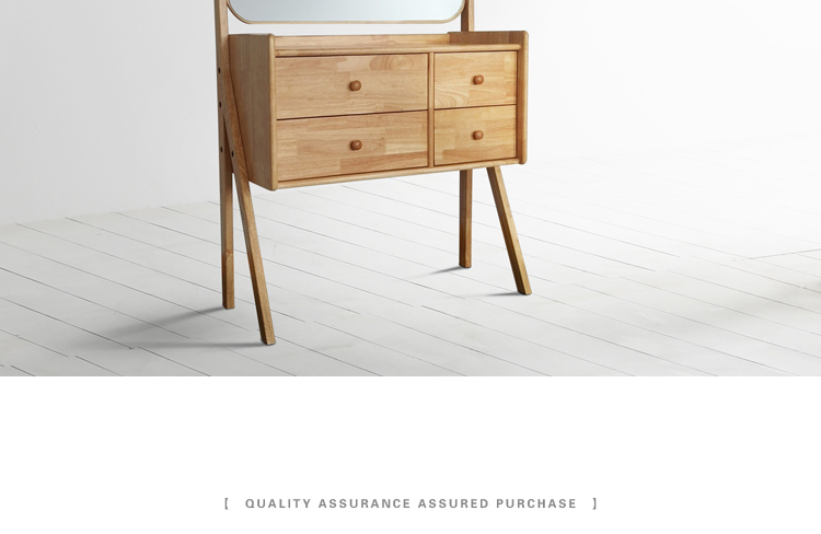 现代简约收纳桌子北欧式梳妆台小户型实木化妆台卧室家具