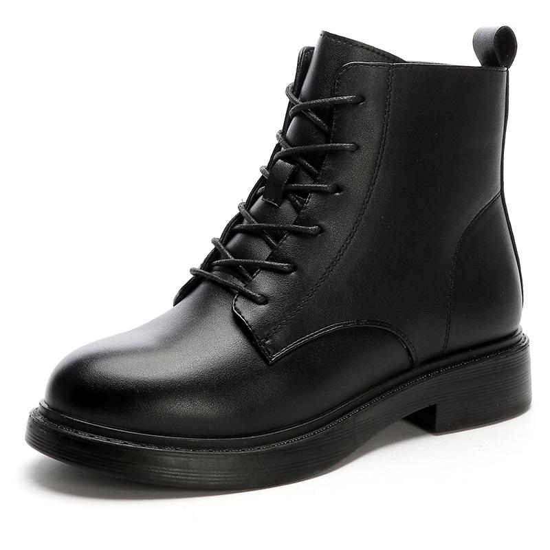 马丁靴女鞋单靴加绒防滑2020秋冬新款ins英伦风靴女短靴妈妈棉鞋