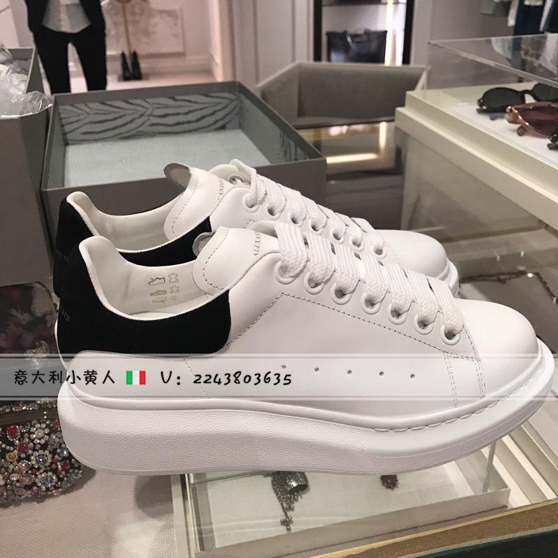 正品代购Alexander McQueen MCQ麦昆小白鞋女鞋黑尾厚底运动男鞋