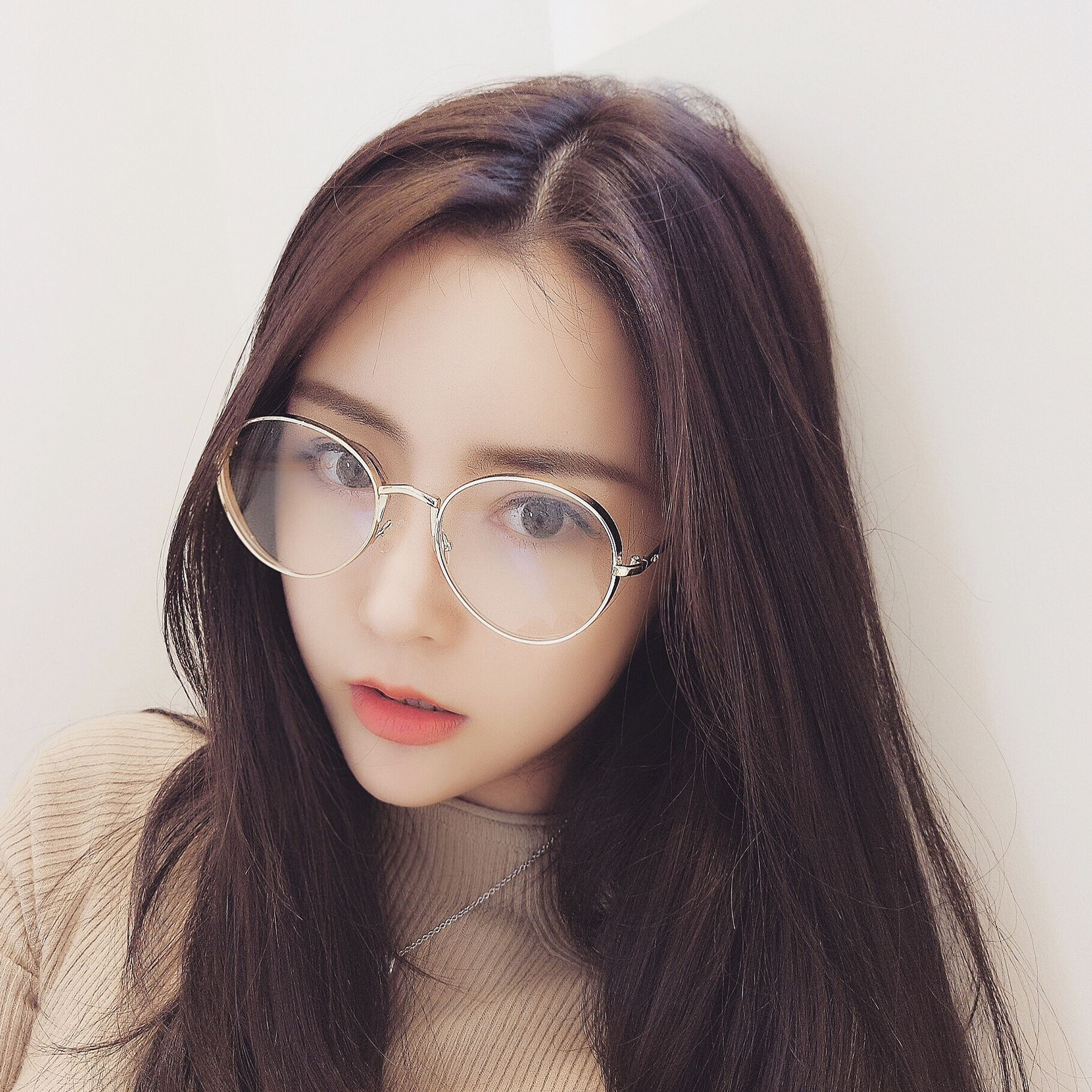 b233c4aed3e Anti-blue glasses female Retro Round Face Korean personality fashion eye  computer anti-radiation anti-fatigue flat light round frame