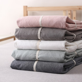 Liangpin washed cotton bed sheet pure cotton 1.8/1.5/1.2 m bedspread mat sheet single piece Simmons cover