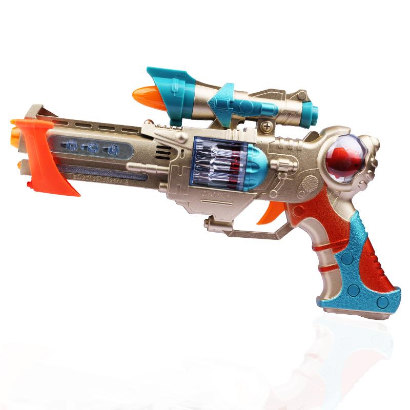 电动儿童玩具枪声光音乐投影迷你手枪
