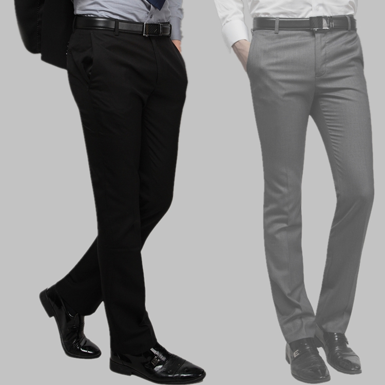 g2000 trousers men to work job suit pants black trim without hot straight pants wedding bridesmaid pants
