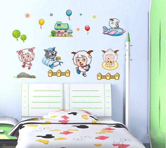 喜洋洋儿童宝宝房卡通装饰墙贴纸 幼儿园卧室床头墙壁贴画可移除图片