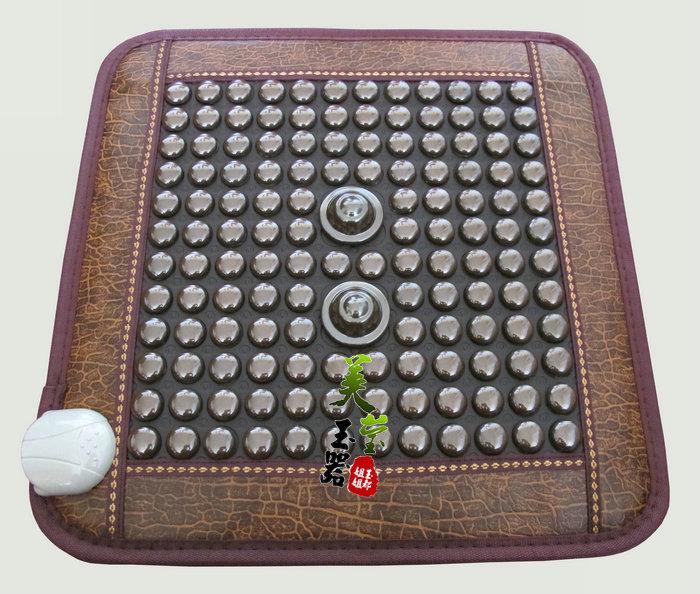 Массажная накидка на автокресло Подлинный жад физиотерапии обивка диван подушка подушки подогревом турмалин турмалин камень обогрев Германий rd04