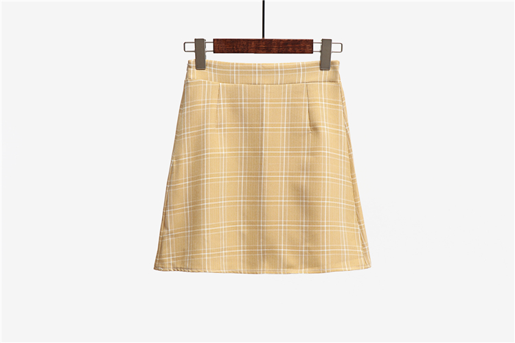 Leisure College Wind High Waist Skirt Women's Skirts Casual Ladies Kawaii Ulzzang Female Korean Vintage Clothing For Women 6