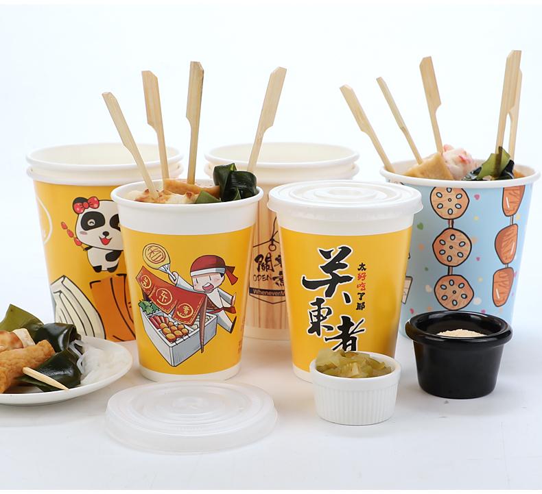 一次性冷锅串串桶杯钵钵鸡关东煮纸杯子爆米花纸杯商用烧烤打包桶详细照片