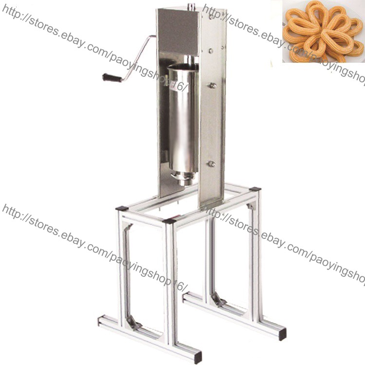Stainless Steel 5L Manual Vertical Spanish Donuts Churro Maker Machine w// Stand