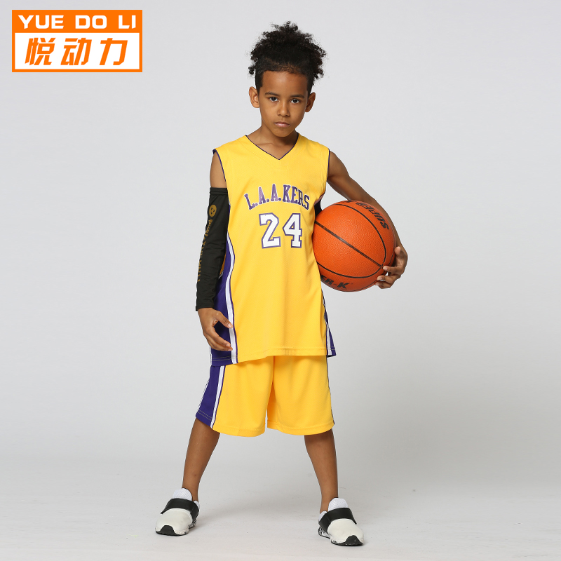 640ca5295c3 Yue Power 2018 spring and summer new quick-drying children s basketball suit  Kobe 24 children s game group purchase custom