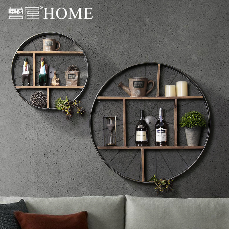 Usd 8083 American Country Iron Solid Wood Wall Hanging Partition