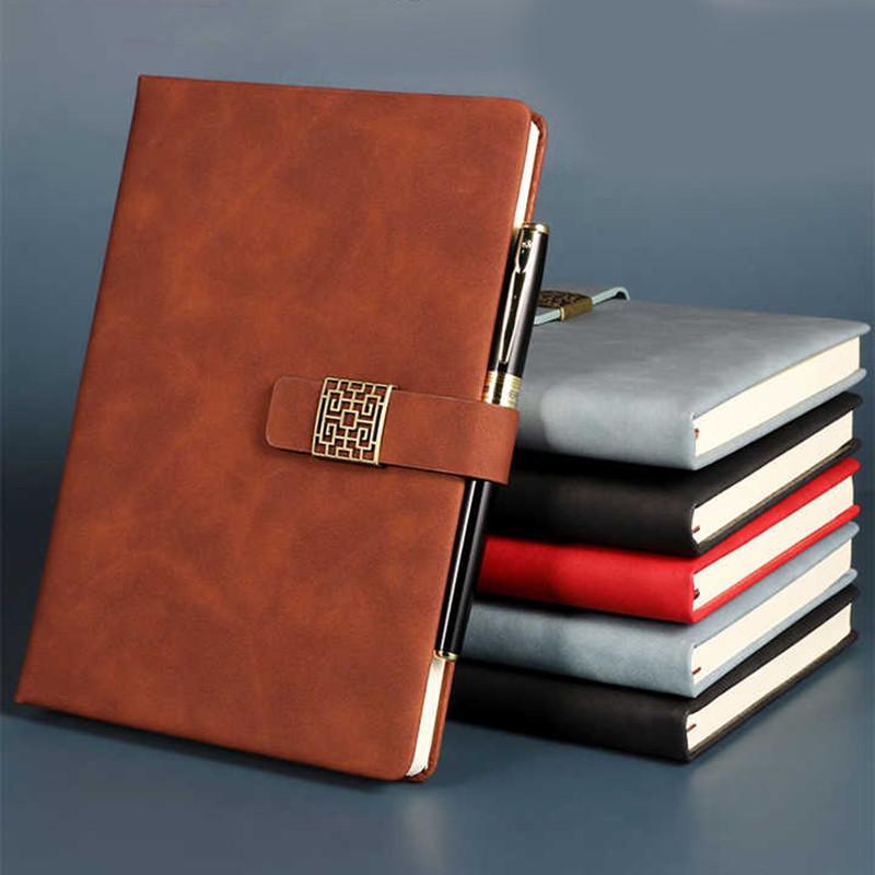 肤感羊巴皮a5记事本b5笔记本加厚记事本商务棕色黑色肤感皮面工作会议记录本大学生日记本定做定制可印logo