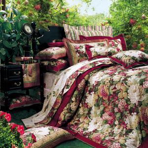 【富安娜】婚庆床单被套家纺四件套全棉