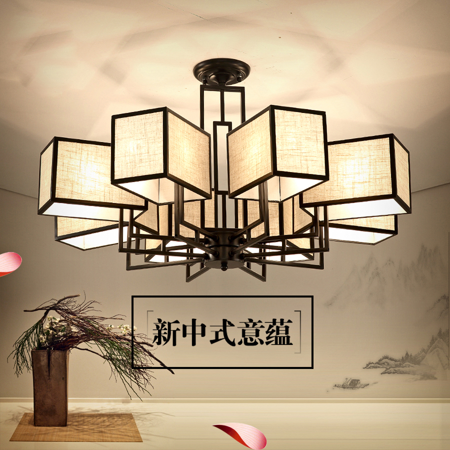 USD 437.89] Modern new Chinese chandeliers living room ...