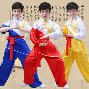 Children martial arts training clothes boys and girls long sleeve children martial arts performance clothing martial arts school training suit