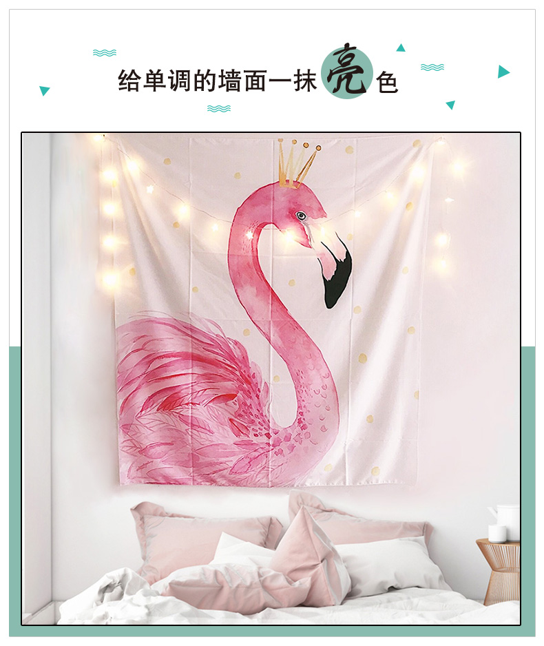 网红出租屋少女心房间布置卧室床头ins背景墙面装饰布景挂饰挂布商品详情图