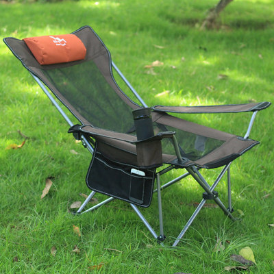 Outdoor folding chair portable ultra light sitting two-purpose chair afternoon lunch chair casual beach chair fishing chair