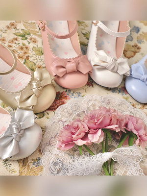 taobao agent [In stock] a little round sheep puffs original lolita Japanese jk women's shoes round toe all-match Mary Jane women's single shoes