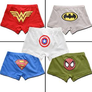 5条装男童纯棉卡通平角内裤零甲醛