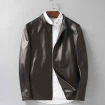 Autumn and winter imports of sheepskin leather collar casual jacket men