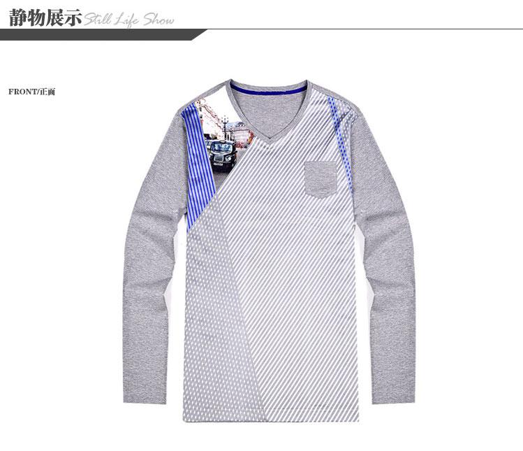 Nhà máy của nam giới quần áo chuẩn đuôi D 2018 mùa xuân người đàn ông mới của màu sắc phù hợp với thời trang giản dị hoang dã dài tay T-Shirt cửa hàng bán áo thun nam cao cấp