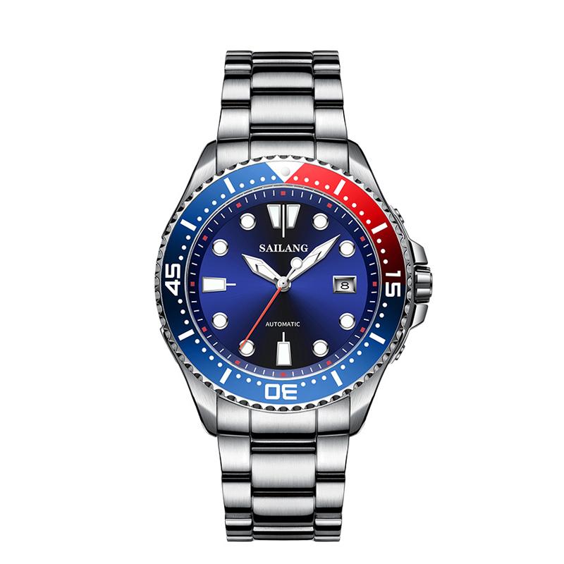 赛浪海洋系列品牌男表时尚防水全自动机械表休闲商务精钢手表
