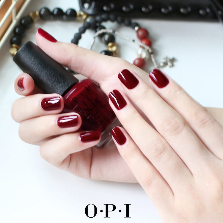 USD 19.41] OPI nail Polish lacquer light to Dark Red aunt color wine ...