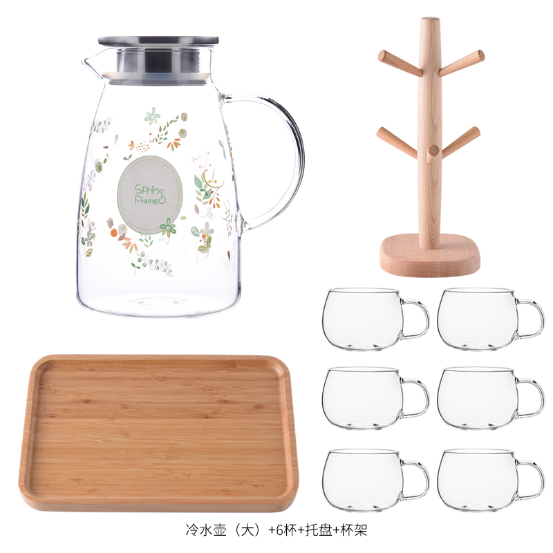 BIG MU WIND KETTLE 2L+6* LARGE CUP + PLATE + WOODEN FRAME
