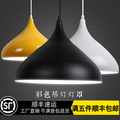Modern minimalist industrial hanging lamp restaurant store commercial hairdresser single-head gym hotel hanging lampshade housing