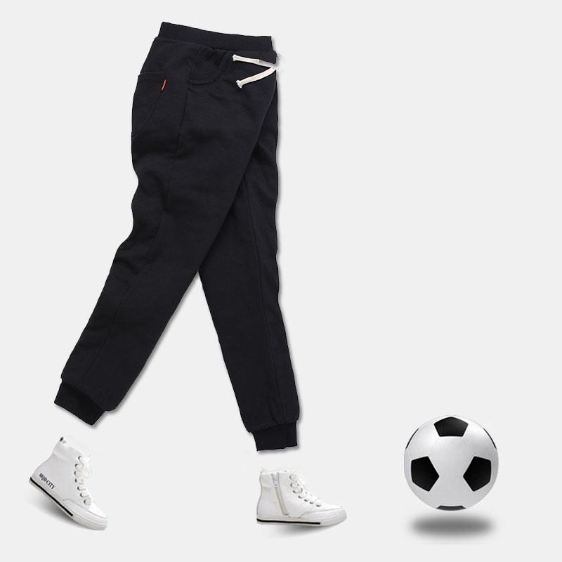 儿童棉裤加厚冬款运动裤男童加绒宽松长裤中大童加棉外穿高腰裤子