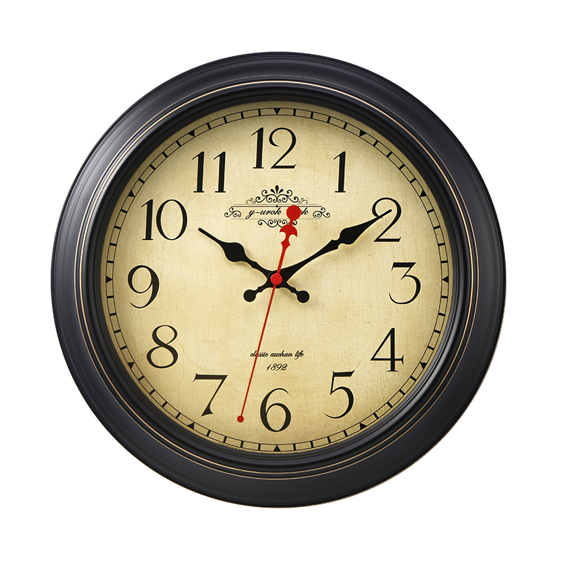 USD 85.75] American wall clock European retro decor living room ...