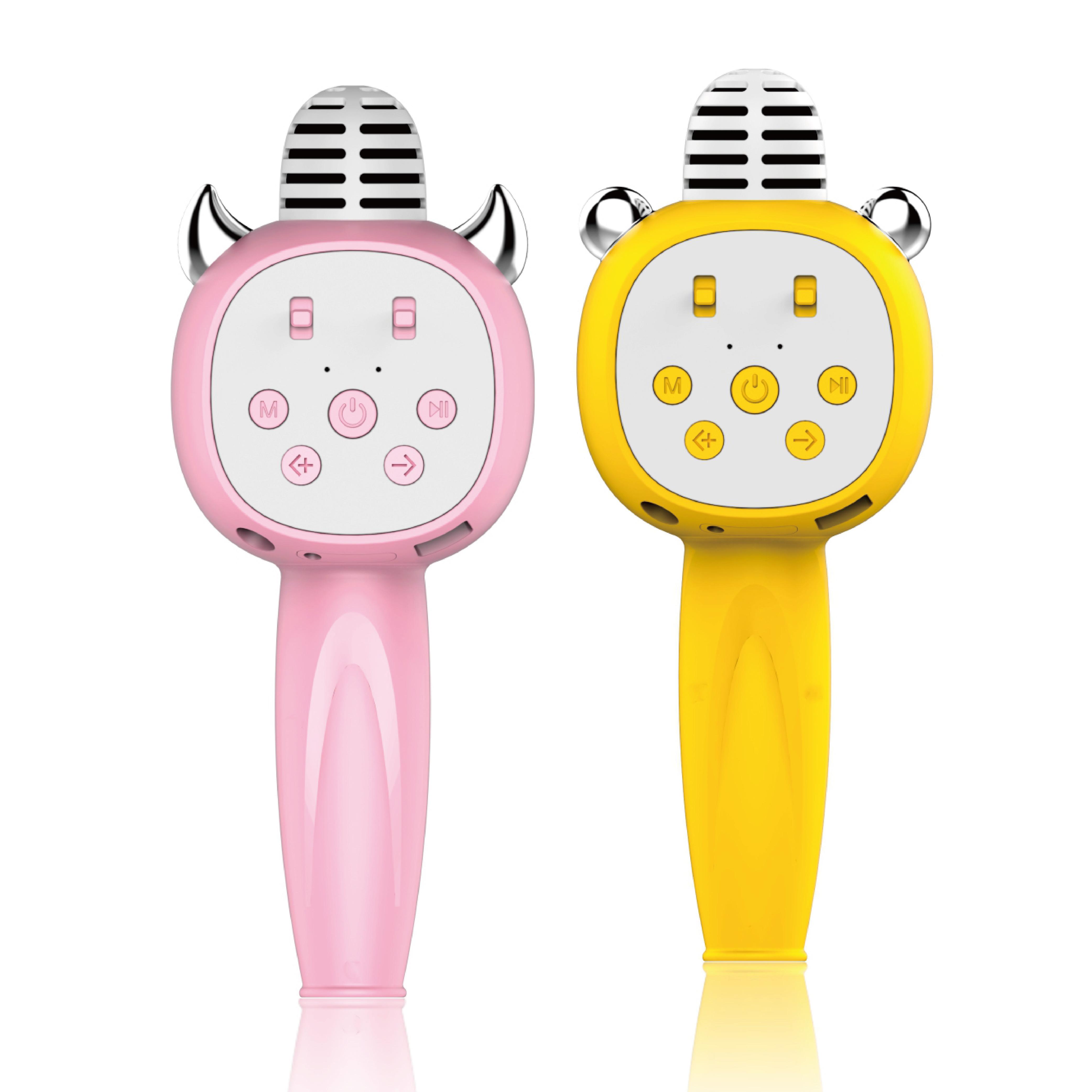 儿童卡拉ok唱歌机宝宝玩具全民k歌启蒙口才女孩无线蓝牙小话筒