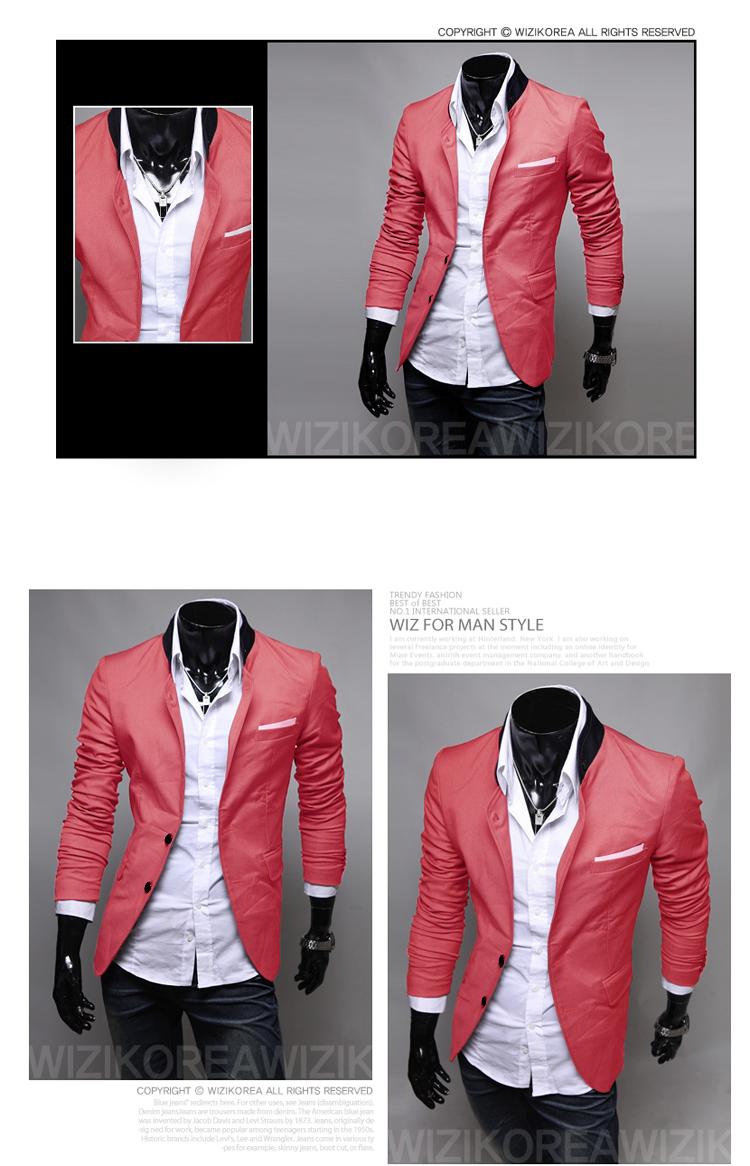 春装新款口袋帖布设计 纯色个性 西装3色入 X17/40