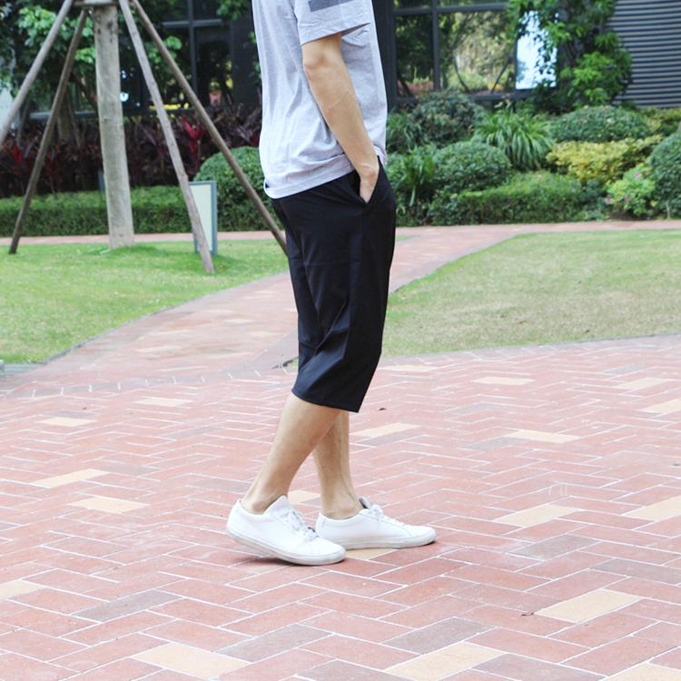 運動風 貴人鳥正品男裝2021夏季新款運動休閒跑步運動七分褲透氣B782099