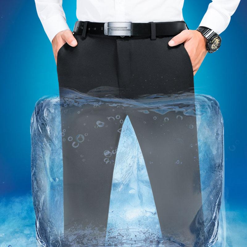 男士商务休闲西裤男夏季簿款小脚裤修身长裤子韩版加大码西装裤潮