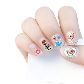 儿童卡通指甲贴女孩假指甲美甲全贴