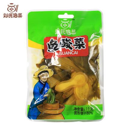 刘氏泡菜 老坛鱼酸菜1000g