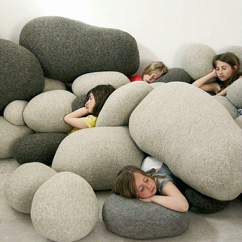 Andy cùng đá giúp gối đệm sofa đệm đá đa năng cá tính sáng tạo DIY - Trở lại đệm / Bolsters